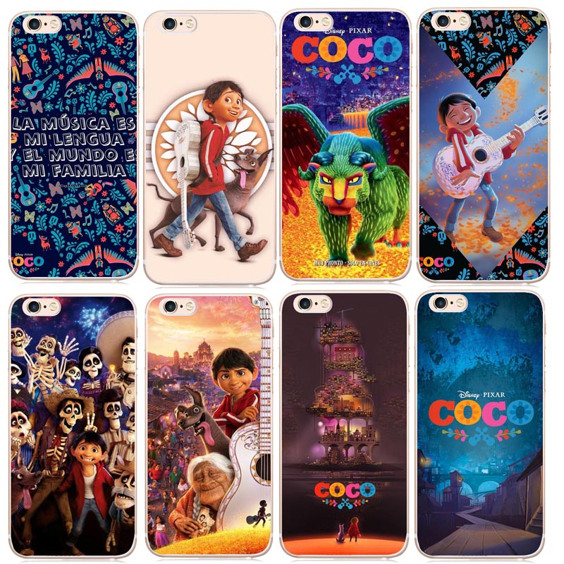 Cartoon Movie COCO Mexican Skull Cover phone Case For iphone X 8 8Plus 7 7Plus 6 6SPlus 5S SE shell Case