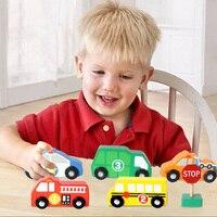 Juguetes Kinder Holz Verkehrszeichen Spielset Kinder Spielzeug für Jungen sichere Hohe Qualität Zug Spur Auto Spielzeug Brinquedos Baby Geboren Geschenke