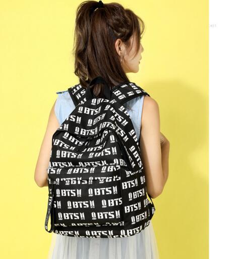 Bag Girls Dos Bts Print For Mochila Backpack A Back Letter Big Bagpack Female Travel Women School Laptop Pack Sac Canvas zpMVSUqG
