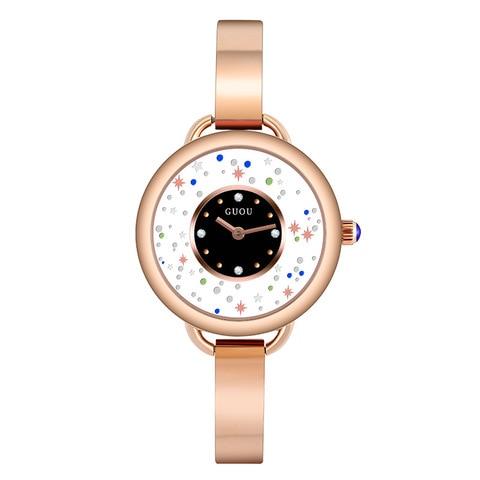 Bracelete de Cristal Relógio para Mulheres do Relógio de Quartzo Mujer à Prova Estrelado Dial Senhoras Relógio Elegante Mulheres Vestido Relógios Feminino Reloj d' Água Céu