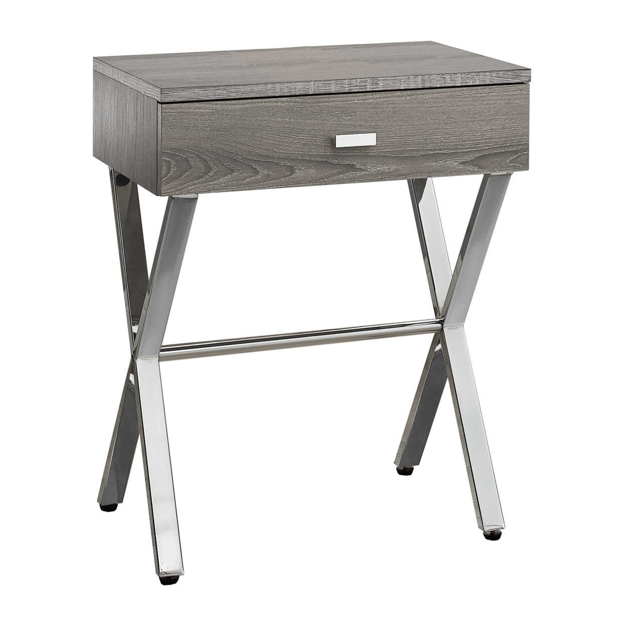 ACCENT TABLE - DARK TAUPE, CHROME METAL NIGHT STAND напольная плитка cerdomus chrome kirman taupe rett 60x60