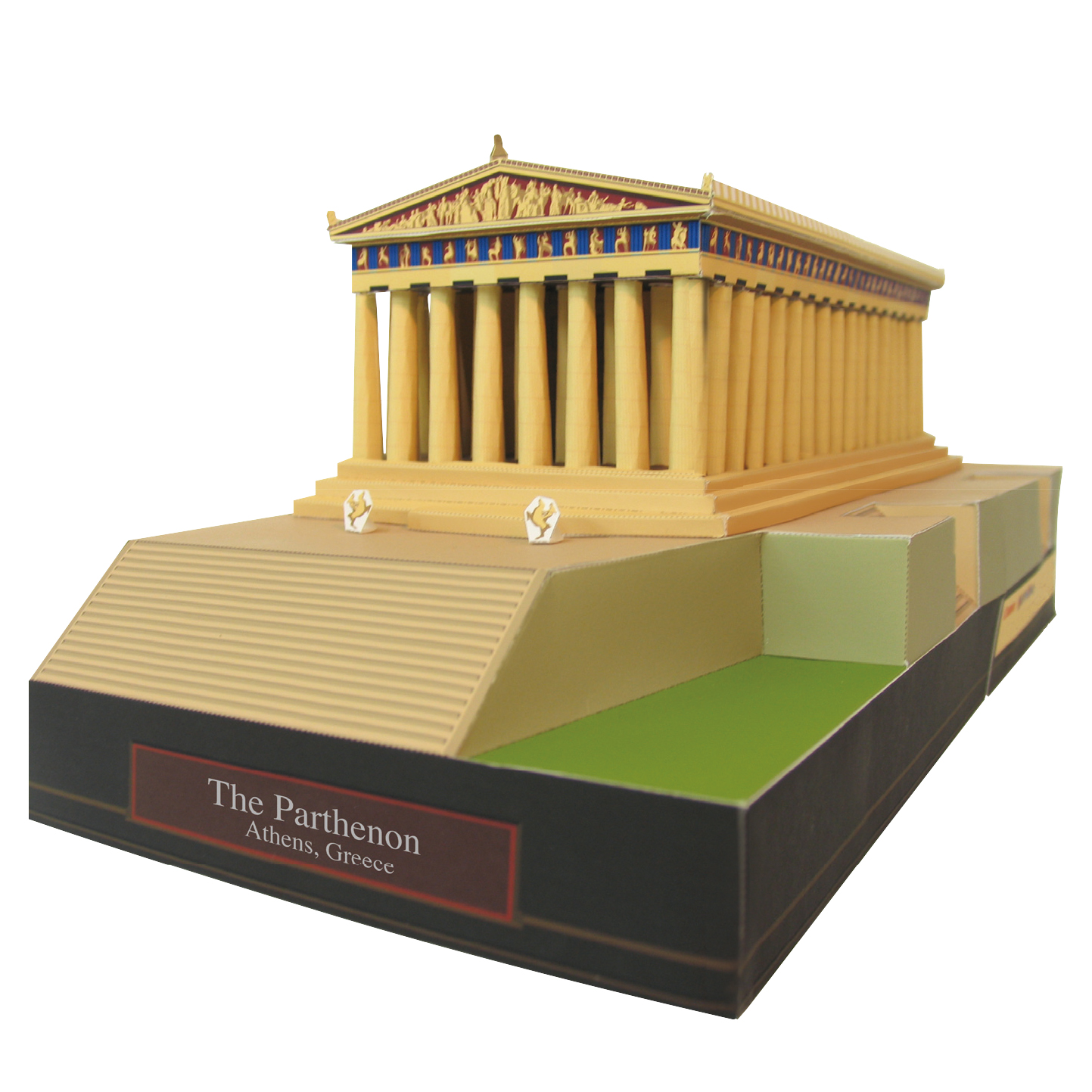 The Parthenon, Greece Craft Paper Model Architecture 3D  DIY Education Toys Handmade Adult Puzzle Game