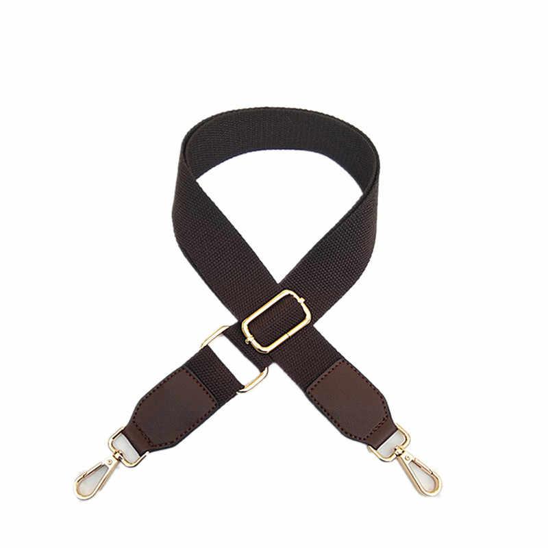 130 см холщовые плечевые ремни для сумки через плечо, регулируемые ремни, одноцветные широкие ремни, женские Fm сумки, аксессуары, кошелек на цепочке