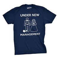 Mens Under New Management Funny Wedding Bachelor Party Novelty Tee For Guys T Shirt 100 Cotton