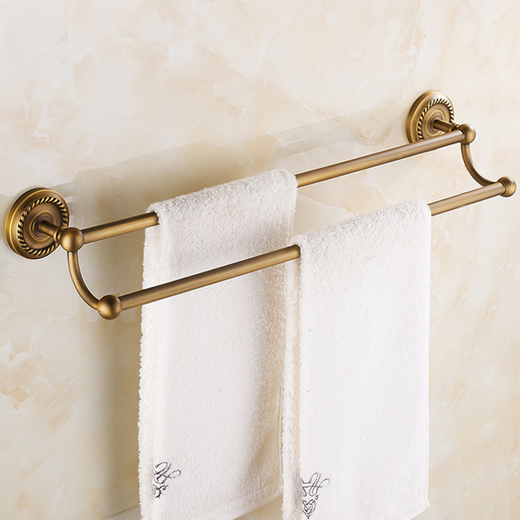 Bronze 60cm Wall Mounted Bathroom Towel Holders Towel Bars Towels Racks Hanger Double Towel Bar