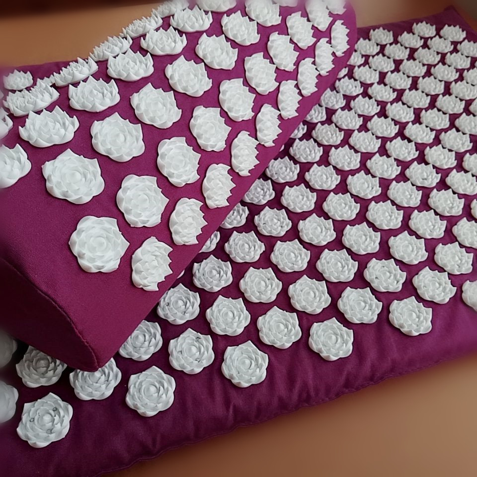 Traditional Acupuncture Sets Acupressure Mat with Pillow Massage Mat Lotus Spike Cushion Massage and Relaxation