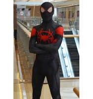 Miles Spiderman Kostüm Halloween Cosplay Superhero body In die Spinne-Vers Miles Morales spiderman kostüm