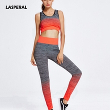 LASPERAL 2017 Yoga Sets Women's Gym Sports Running Slim Leggings+Tops Women Fitness Yoga Sets Bra+Pants Sport Suit For Female
