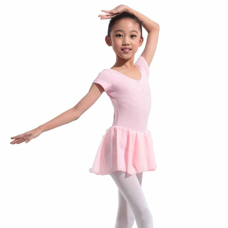 ילדה התעמלות בלט ריקוד שמלת ילדים 4-13Y בלט טוטו בגד גוף חצאית סקייט בנות