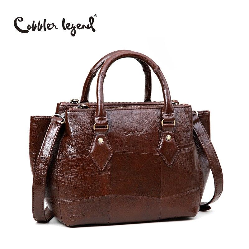 Cobbler Legend 2019 New Arrival Women's Totes Bags For Women Messenger Crossbody Bag For Lady Genuine Leather Handbag Female