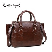 Cobbler Legend 2017 New Arrival Women's Totes Bags European and American Style Crossbody Bag For Lady's Genuine Leather Handbag 2017 time limited tote totes new female leather handbag european and american style oil wax shoulder crossbody messenger bag
