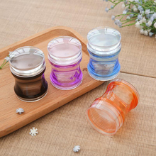 3.8CM Dual XL Clear Jelly Nail Art Stamper Silicone Head with Rhinestone Cap Scraper Manicure Nail Art Tool (for Big Image plate
