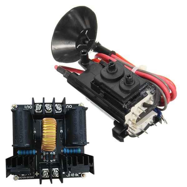 12V 24V ZVS Tesla Coil Flyback Driver Generator Marx Generator Jacob' Ladder With Ignition Coil Free Shipping