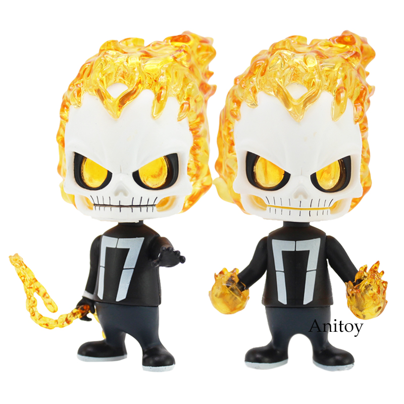Ghost Rider Bobble Head Dolls Pvc Figure Collectible Model Toys 11.5cm 2 Styles Selected Material Toys & Hobbies