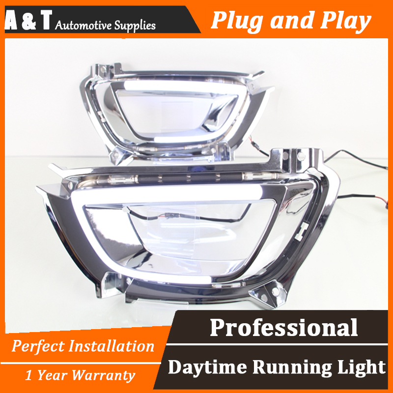 JGRT car styling For Kia Sportage R LED DRL For Sportage R High brightness guide LED DRL led fog lamps daytime running light jgrt for highlander led drl car styling for highlander fog lamps parking led daytime running lights driving
