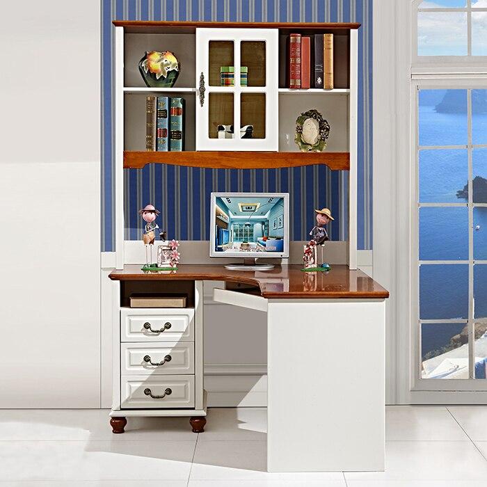 Mesa barato hui madera escritorio de la computadora - Estanterias en esquina ...