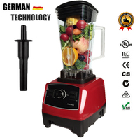 Top Quality Germany Technology BPA Free 3HP 2200W Commercial Blender Meat Mixer Powerfull Food Smoothie Fruit