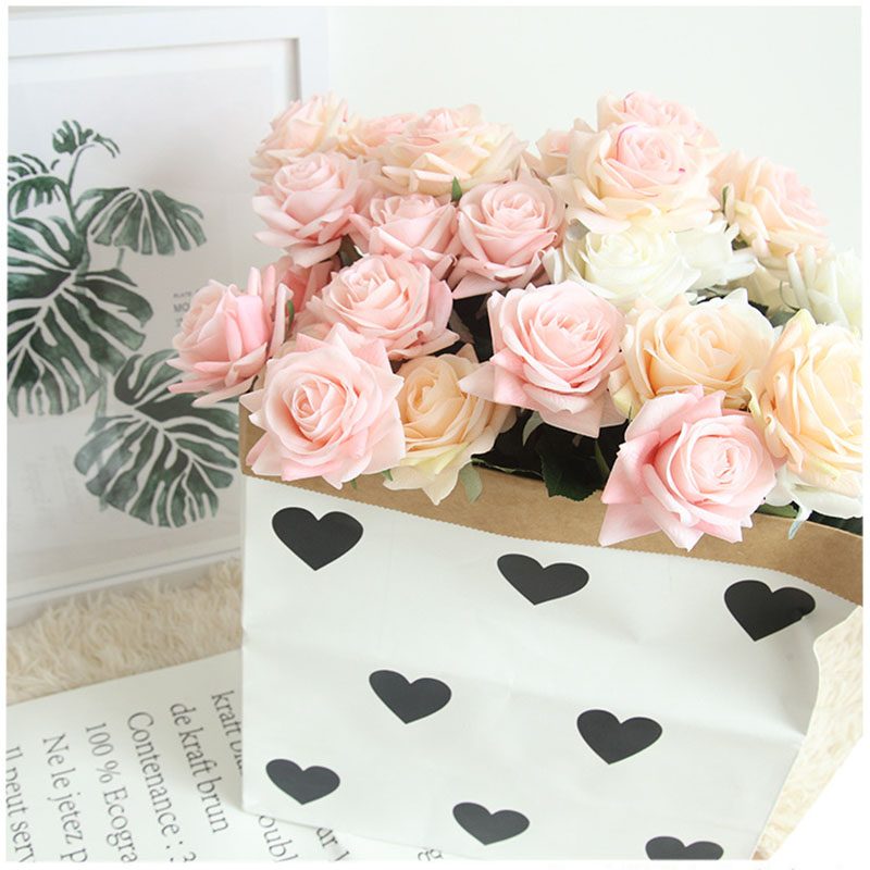 Real touch roses artificial flower wedding home decoration (26)