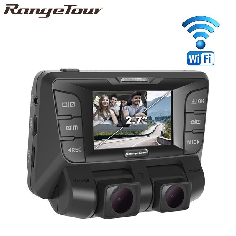 Double Lentille Full HD 1080 p + 1080 p Voiture DVR Registrator Novatek 96660 Double Caméra De Voiture Caméra 170 Degrés vidéo Enregistreur Dash Cam B90D
