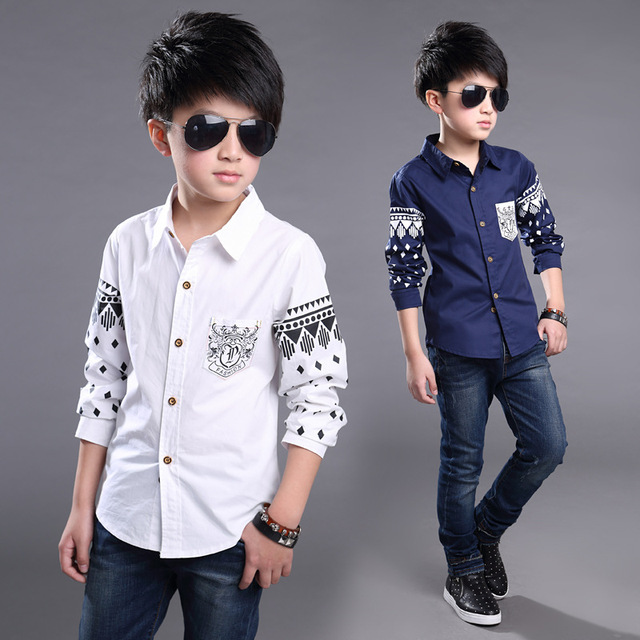 0ef06a834 Boys Shirts Cotton Fashion Children Clothing High Quality School Uniform  Shirt 2016 Brand Boy Shirts Spring Autumn Kids Clothes