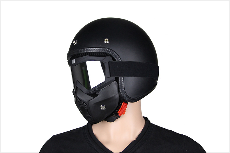 motorcycle helmet with   MASK Retro Motorbike Helmet Motorcycle Casco Capacete With Mask Goggles  Men women unisexmotorcycle helmet with   MASK Retro Motorbike Helmet Motorcycle Casco Capacete With Mask Goggles  Men women unisex