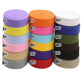 cotton strap 20mm webbing for sewing canvas ribbon needlework twill tape backpack