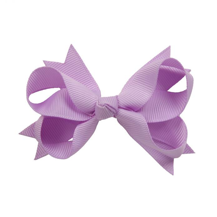 100pcs lot Wheel Hair Accessories Solid Ribbon Hair Bow kids Boutique Lt Orchid hair bow