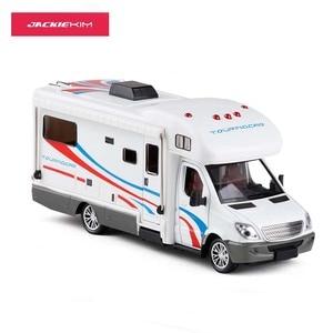 1:32 Scale Alloy Metal Diecast Car Model For Sprinter Luxury Motor Home Recreational Vehicle RV Trailer Caravan Model(China)