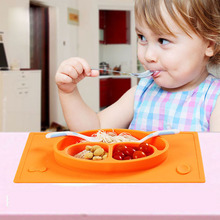 3 Grilles Silicone Bébé Plats pour Enfants Formation Plaque Multicolore Bébé Napperon Infantile Vaisselle S/L