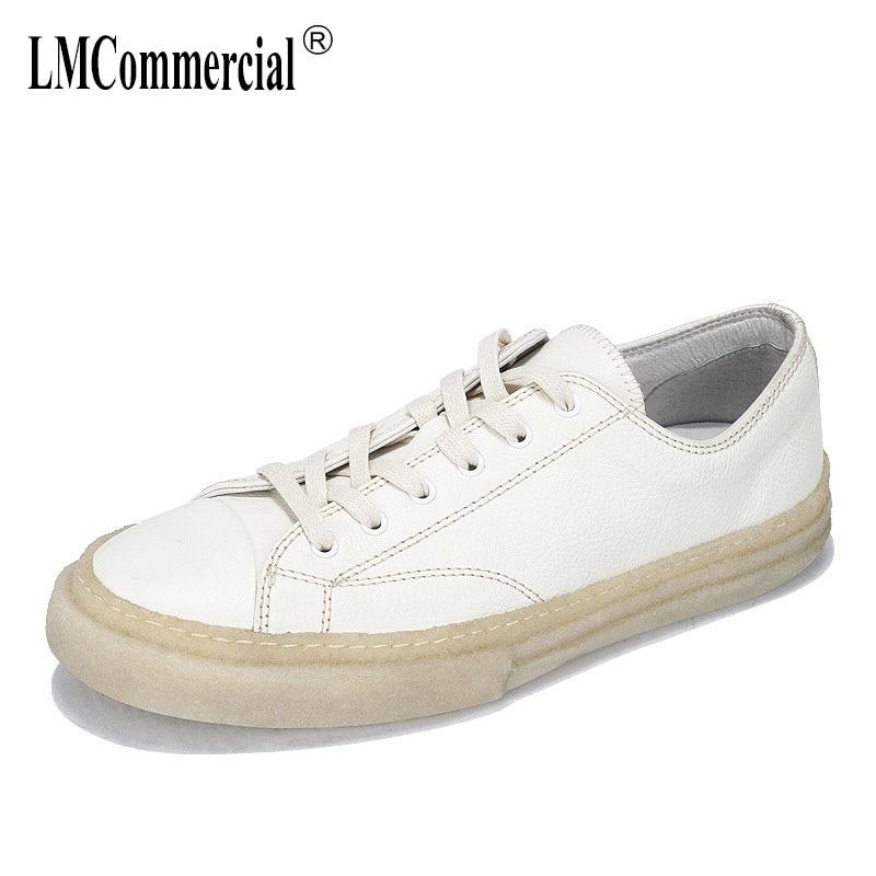 عالية الجودة جلد طبيعي الكورية شقة لينة أسفل حذاء كاجوال الرجال جلد البقر أحذية التنفس الأزياء حذاء فاخر رجل-في أحذية رجالية غير رسمية من أحذية على  مجموعة 1