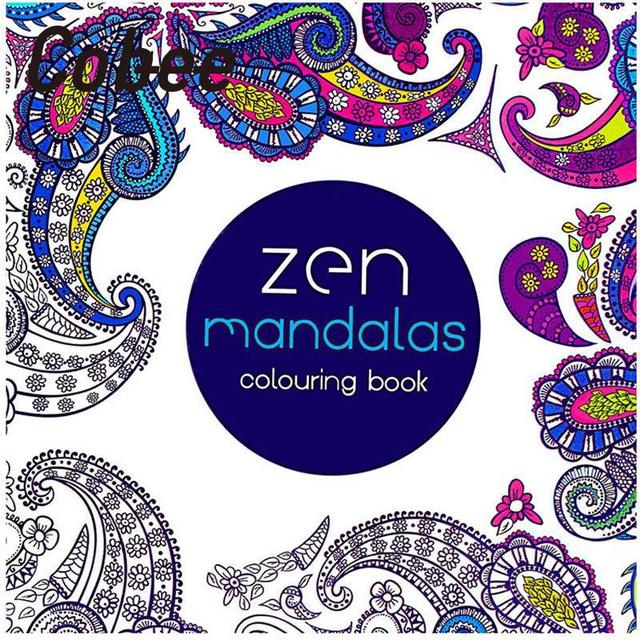 Cobee 2pcs Creative 24 Pages Anti Stress Coloring Book Fantasy Zen Mandalas Painting Books Graffiti Students