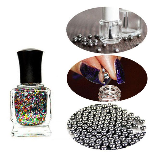 20Pcs/100pcs Stainless Steel Nail Polish Mixing Balls 5mm Beads for Nail Glitter Polish Manicure Nail Art Accessories Tool