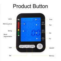 U Kiss LCD Digital Upper Arm Blood Pressure Monitor USB Rechargeable Sphygmomanometer Heart Rate Monitors Automatic Health Care