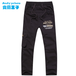 Image 1 - Hot Sales Autumn and Winter Boys Clothing 100% Cotton Baby Casual Trousers Full length Children Sports Pants for Kids 6 15 Years