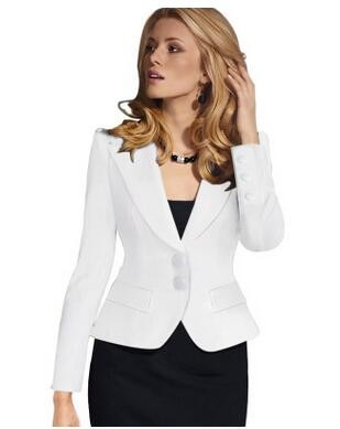 Spring New Fashion Women Casual Blazers O neck Two button Long ... ad0fbdf422