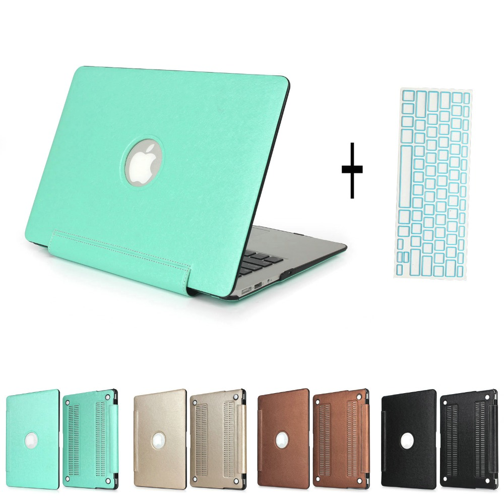 New Laptop Case Cover Matte Folio PU Leather For Macbook Pro 13 15 Retina Air 11 13+ Keyboard Cover