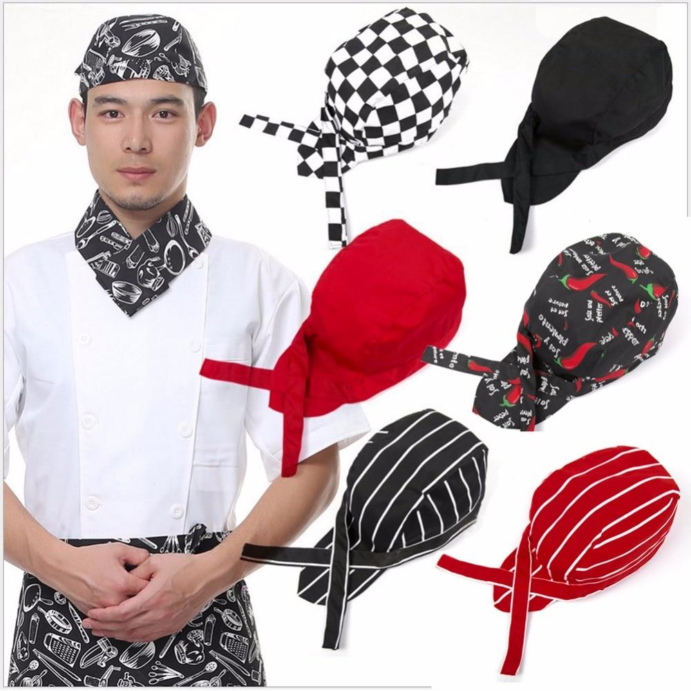 Colourfull Pirates Chef Cap Skull Cap Professional Catering Various Chef Hat fashion