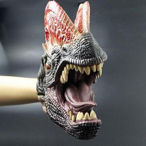Image 4 - Kinder spiele Shark Dinosaurier Handpuppe Weiche Gummi Tier Kopf Handpuppen Realistische Shark Modell Abbildung Spielzeug Für Kinder Geschenke