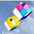 """Fácil de Voar 34 """"/85 CM 3D Tradicional Caixa de Pipa Esportes Ao Ar Livre Única Linha de Pipa Para Iniciantes Crianças jogando"""