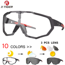 X-TIGER Photochromic MTB Bicycle Bike Sunglasses Goggles Bike Eyewear Myopia Fra