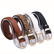 Good Quality Fashion Women Belt Faux Leather Metal Buckle Straps Accessories