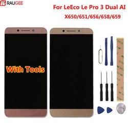 Dla LeEco Le Pro 3 Dual AI X650 X653 AI Edition wyświetlacz LCD + ekran dotykowy ekran dotykowy montaż panelu szklanego w Ekrany LCD do tel. komórkowych od Telefony komórkowe i telekomunikacja na