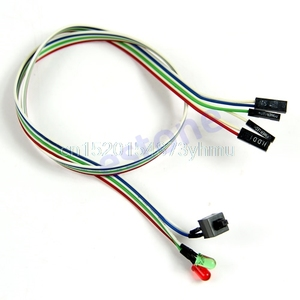 Case Desktop ATX Power On Reset Switch Cable With HDD LED Light For PC Computer #L057# new hot