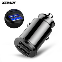 3.1A Dual USB Car Charger Quick Charging Mini Car-Charger Fast Auto Charge 2 Port 24W for iPhone 6 7 8 GPS Samsung Huawei Xiaomi