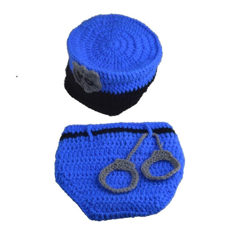 Блестящие сладкий полиции дети фотографии ручной работы Комплект новорожденных Творческий Ткань шапка сто дней реквизит для фотосессии Ко...