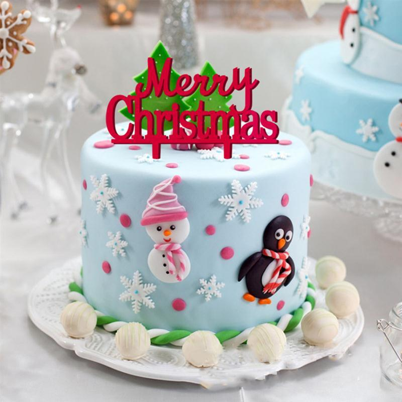 description - Christmas Cake Decorations