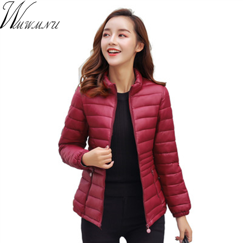 2018 New Winter Jacket Women plus size 5XL   Parka   Coats Female Long Sleeve Warm high quality Jacket slim Coat Tops