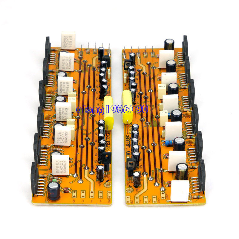 GZLOZONE One Pair Assembeld LM3886 Amp Board Base on JEFF Rowland Amp 360W+360W L11-4 assembeld mono lm3886 hifi amplifier board base on jeff rowland lm3886 power amplifier