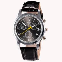 Luxury Watch Fashion Faux Leather Mens Analog Watch Wrist