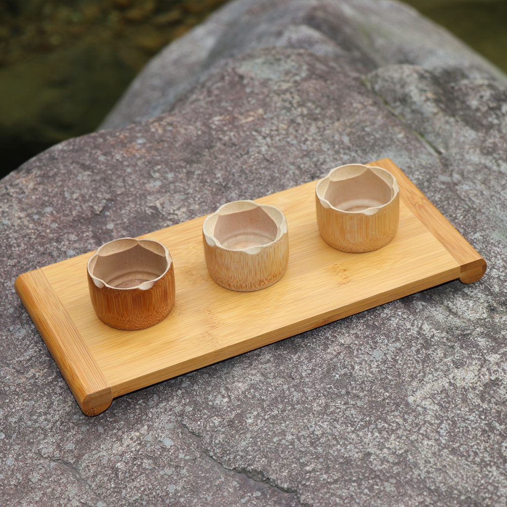 Single layer wooden gongfu tea tray rectangle saucer Storage tray teapot trivets Tea ceremony ware set creative Japanese Dishes